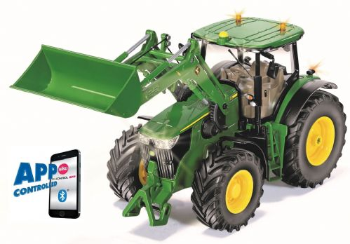 John Deere 7310R & loader with Bluetooth App control